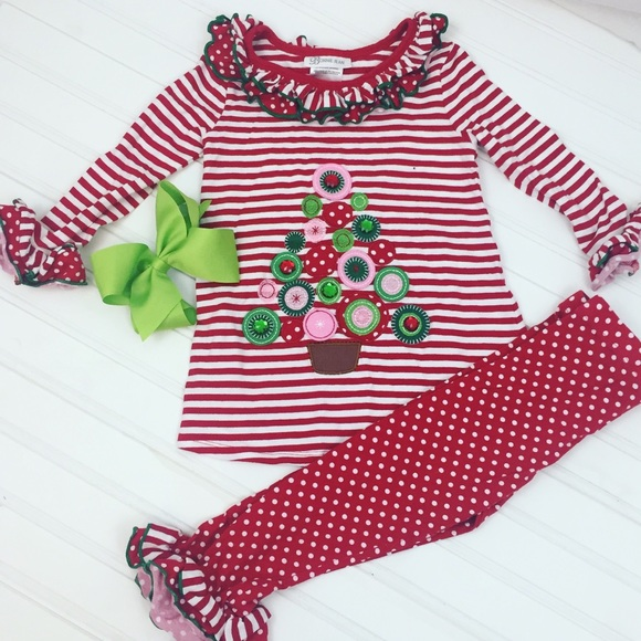 53877b6506f Bonnie Jean Matching Sets | Girls 3t Christmas Outfit With Bow ...